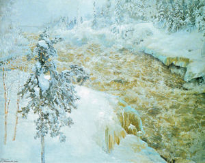 Akseli Gallen Kallela - Winter Scene from Imatra