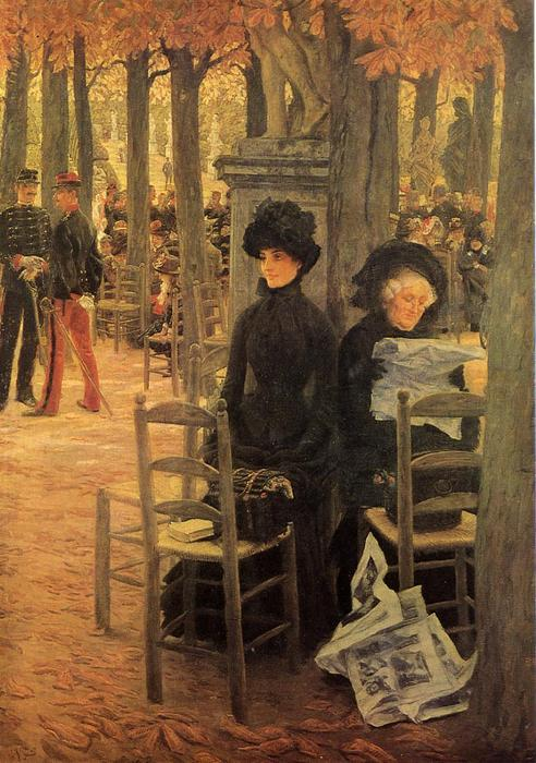famous painting Without a Dowry (also known as Sunday in the Luxembourg Gardens) of James Jacques Joseph Tissot