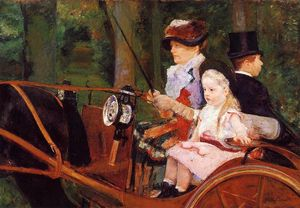 Mary Stevenson Cassatt - Woman and Child Driving