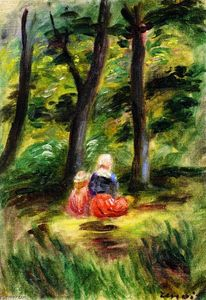 Pierre-Auguste Renoir - Woman and Child in a Landscape
