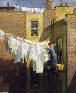 John Sloan - A Woman's Work
