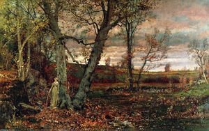 Jervis Mcentee - Woman at the Edge of the Woods