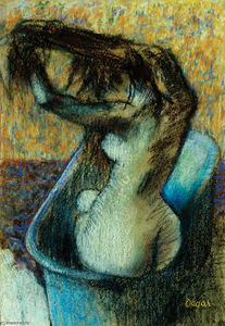 Edgar Degas - Woman Bathing