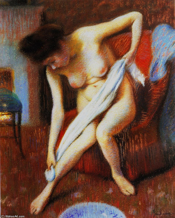 famous painting Woman Drying Herself of Federico Zandomeneghi