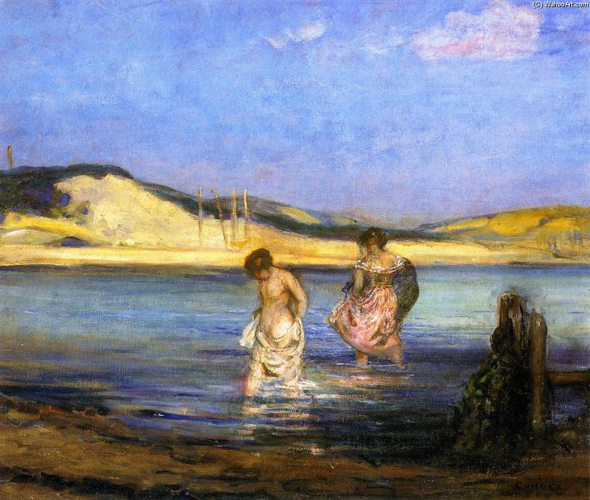 famous painting Women Bathing, Swanage of Charles Edward Conder