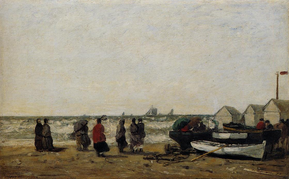 famous painting Women on the Beach, Rough Seas of Eugène Louis Boudin
