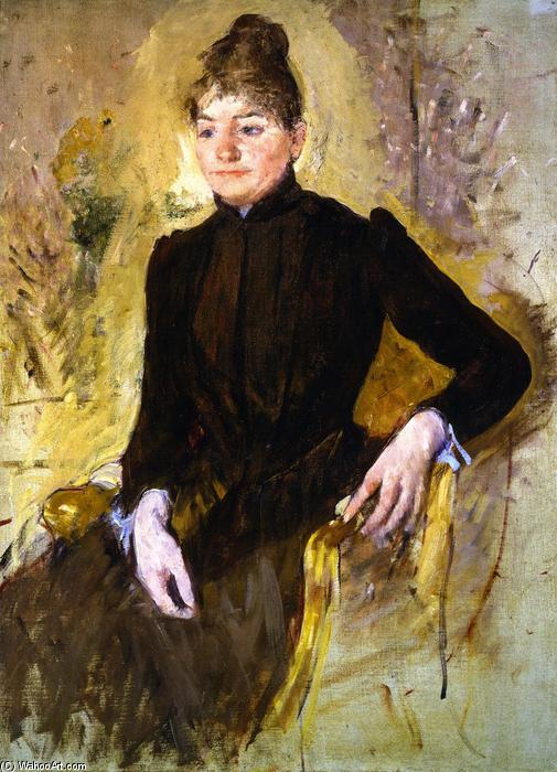 famous painting Woman in Black (also known as Portrait of a Woman) of Mary Stevenson Cassatt