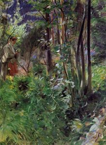 Anders Leonard Zorn - A Woman in a Forest