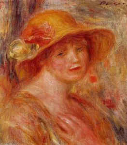 Pierre-Auguste Renoir - Woman in a Straw Hat