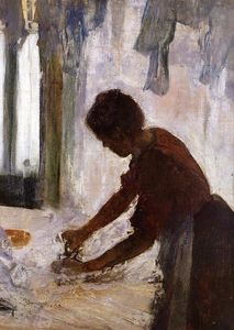 Edgar Degas - Woman Ironing (also known as Silhouette)
