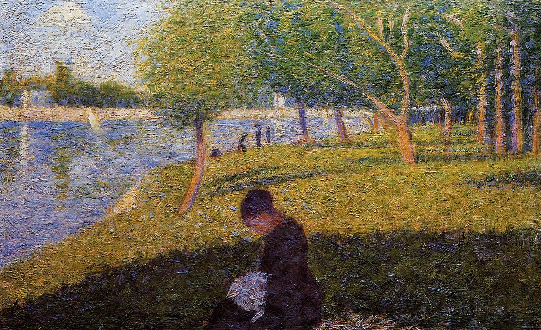 famous painting Woman Sewint of Georges Pierre Seurat