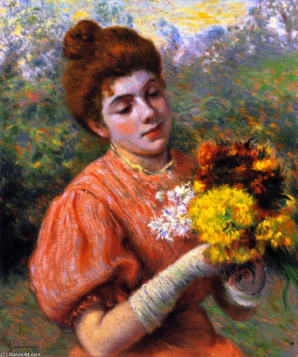 Order Paintings Reproductions Impressionism | Woman with a Bouquet by Federico Zandomeneghi | TopImpressionists.com