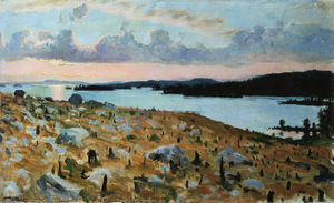 Akseli Gallen Kallela - Woodland Clearing on the Shores of Lake Kallavesi