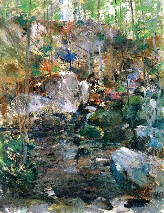 famous painting Woodland Stream of John Henry Twachtman