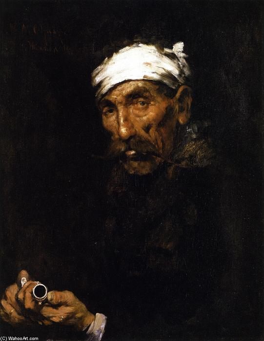famous painting The Wounded Poacher (also known as The Veteran) of William Merritt Chase