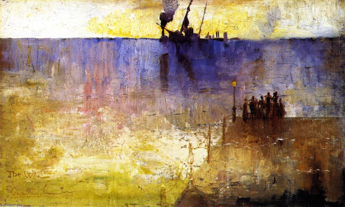 famous painting The Wreck of Charles Edward Conder