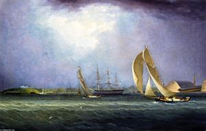 James Edward Buttersworth - Yacht Race