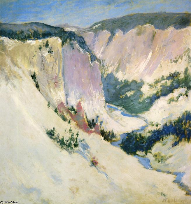 famous painting Yellowstone Park of John Henry Twachtman