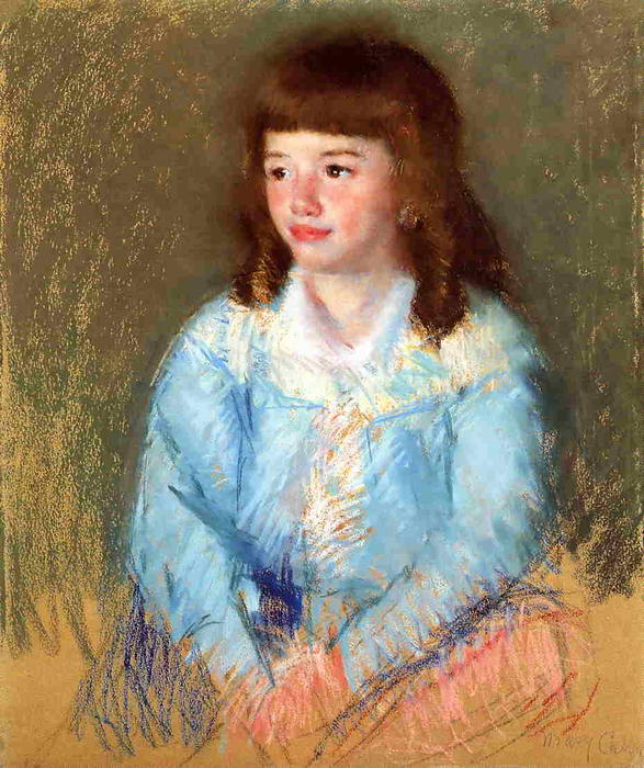 famous painting Young Boy in Blue of Mary Stevenson Cassatt