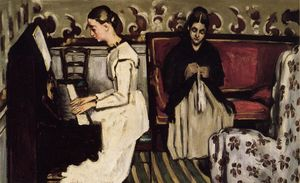 Paul Cezanne - Young Girl at the Piano - Overture to Tannhauser