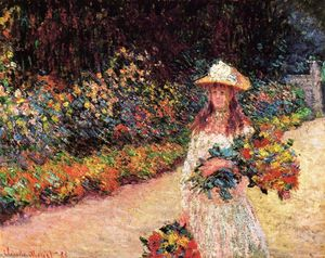 Claude Monet - Young Girl in the Garden at Giverny