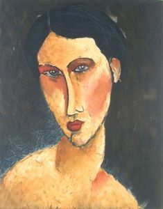 Amedeo Modigliani - Young Girl with Blue Eyes (also known as Jeune femme aux yeux bleus)