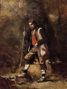Jean Baptiste Camille Corot - Young Italian Patriot in the Mountains