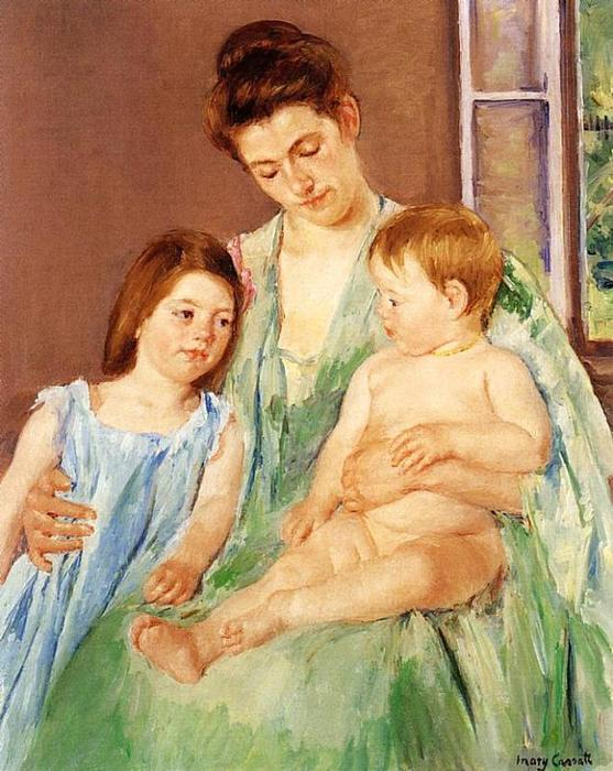 famous painting Young Mother and Two Children of Mary Stevenson Cassatt