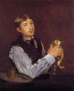 Edouard Manet - Young Man Peeling a Pear (also known as Portrait of Leon Leenhoff)