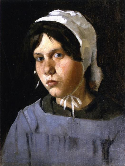 famous painting Young Peasant Girl of Julian Alden Weir