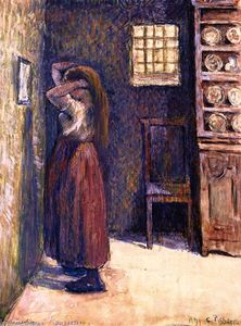 Camille Pissarro - Young Peasant Woman Fixing Her Hair