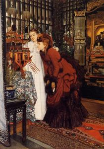 James Jacques Joseph Tissot - Young Women Looking at Japanese Objects
