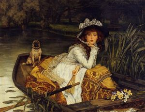 James Jacques Joseph Tissot - Young Woman in a Boat