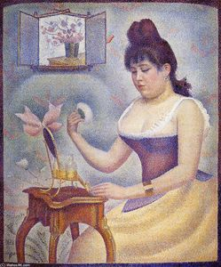 Georges Pierre Seurat - Young Woman Powdering Herself
