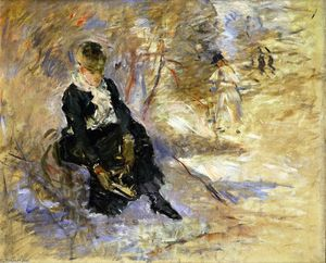 Berthe Morisot - Young Woman Putting on Her Skates