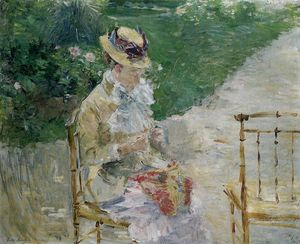 Berthe Morisot - Young Woman Sewing in the Garden