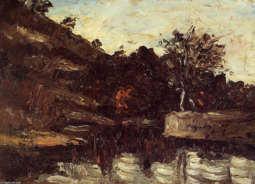 Order Museum Quality Copies Impressionism | Bend in the River by Paul Cezanne | TopImpressionists.com