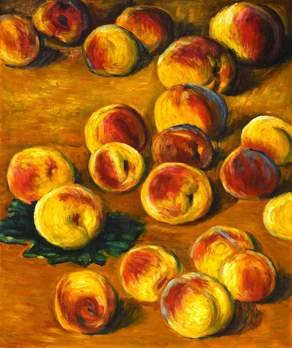 famous painting Peaches of Claude Monet