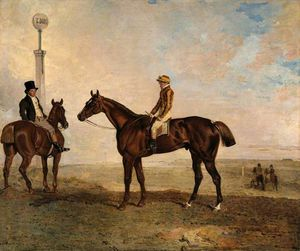 Benjamin Marshall - The Duke Of Richmond's 'rough Robin' With The Jockey Frank Buckle Up