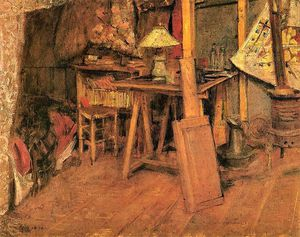 Stanislaw Wyspianski - The Interior Of The Artist's Studio In Paris