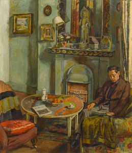 Vanessa Bell - Interior With Duncan Grant
