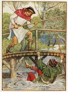 Walter Crane - Robin Hood And Little John