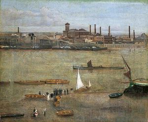 Walter Greaves - The Plumbago Factory, Battersea, London