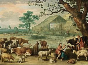 Willem Van Nieulandt - Landscape With Amorous Shepherds