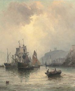 William A. Thornley (Thornbery) - Congestion At The Harbour Mouth, Whitby