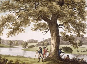 William Hamilton - Humphrey Repton Surveying With A Theodolite