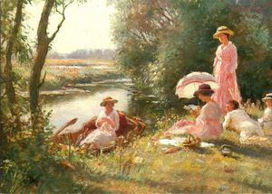 William Kay Blacklock - Picnic On The Ouse