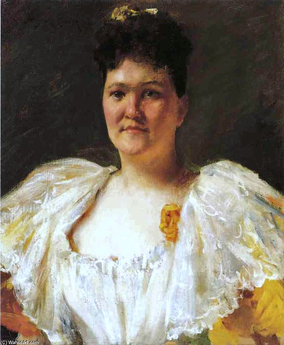 famous painting Portrait Of A Woman - of William Merritt Chase