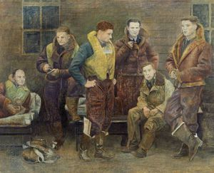 William Rothenstein - Unknown Bomber Crew