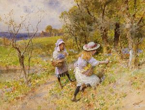 William Stephen Coleman - The Primrose Gatherers